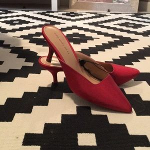 Target Who what where red slip on Sz 7 1/2